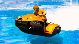 NEW EXTREME HOVERCRAFT RACE! (GTA 5 Funny Moments)