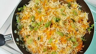 Carrot Rice || Carrot Fried Rice Preparation by Lalitha