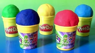 Disney PJ Masks Softee Dough Backpack Stamper with Crayons Markers Stamps Cra-Z-Art Play-Doh Funtoys