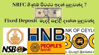 NRFC ගිණුම් පිටරට ඉදන් පුලුවන්ද ? nrfc account and fixed deposits questions in sri lanka