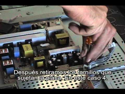 Como reparar arreglar una TV de LCD.