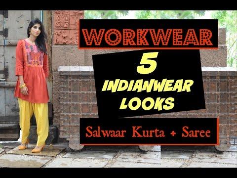 Indian Workwear options Lookbook : 5 Indianwear Looks : Workwear Desi Style
