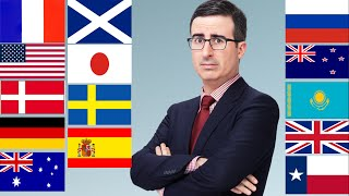 John Oliver does Accents from Different Countries (Compilation)