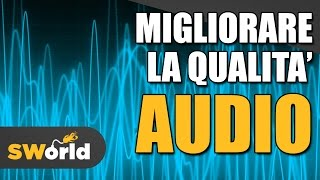 Come migliorare l'audio dei nostri video con Audacity
