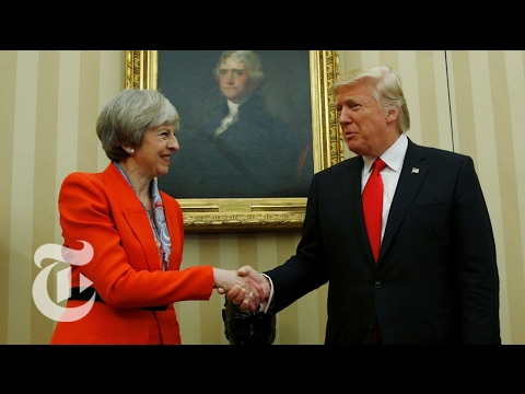 President Donald Trump and Theresa May Speak The New York Times