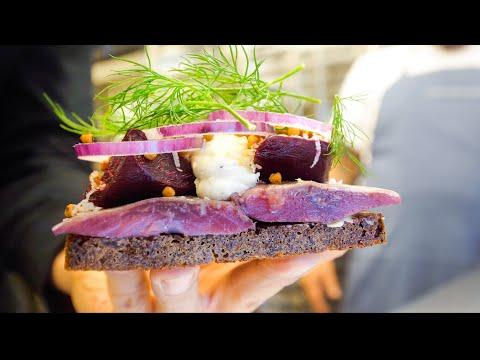 Denmark Food BEST SMØRREBRØD Lunch at 800 Year Old Castle