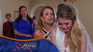 Simplemente María - Karina arruina la boda de Alejandro