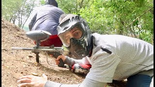 EPIC PAINTBALL MATCH IN THE WOODS!!!