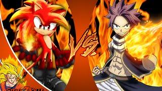 FIRE SONIC vs NATSU! Cartoon Fight Club Episode 75 REACTION!!!