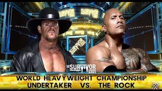 Undertaker vs. The Rock - WWE World Heavyweight Championship Match: Survivor Series,WWE 2K16