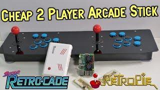 Cheap 2 Player Pi 3 USB Arcade Stick Review  & Super Retro-Cade Guide
