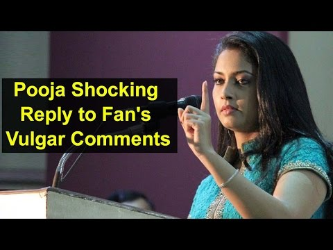 Actress Pooja Shocking Reply to Fan's Vulgar Comments | Tamil Focus