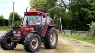 mowing baling wrapping stacking  silage with 110-90 & mc hale co roscommon