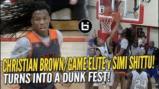 Christian Brown, Game Elite vs Simi Shittu Dunk Fest! Josh Nickelberry 24 Points!
