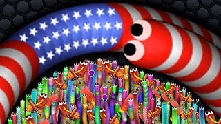 Slither.io 001 Strong Bad Snake Skin Hacked vs. 7,277,222,777 Snakes Epic Slitherio Gameplay!