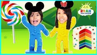 DisneyLand Board Game for Kids with Kinder Surprise Eggs for Winner!