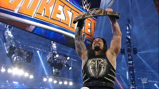 WRESTLEMANIA 32 TRIPLE H vs ROMAN REIGNS WINS WWE TITLE FULL MATCH Review