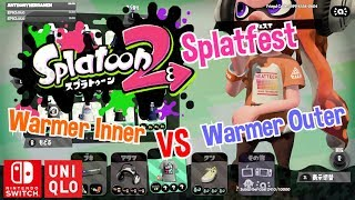 Nintendo Splatoon 2 x Uniqlo Splatfest Warmer Inner Heattech vs Warmer Outer Ultra Light Down Switch