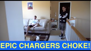 Live reaction to EPIC CHARGERS CHOKE! (Charger fans watch HUGE MELTDOWN)