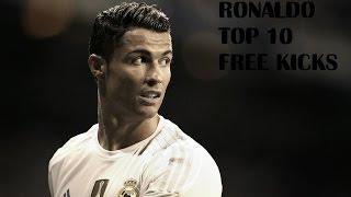 Cristiano Ronaldo TOP 10 Free Kicks Ever HD