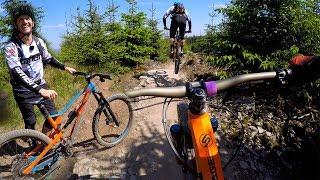 Chasing Blake Samson around BikePark Wales
