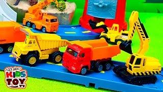 Working machines. #Toys : transporter, garbage truck, truck crane, excavator, loader, dump truck.
