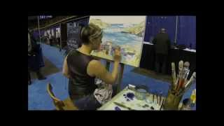 ARTIST KELI-ANN PYE-BESHARA OCEANS'14 CONFERENCE ON-SITE PAINTING