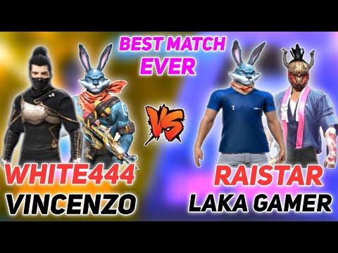 WHITE444 VINCENZO VS RAISTAR LAKA GAMER 2 VS 2 CUSTOM ROOM BEST MATCH EVER WHO WON