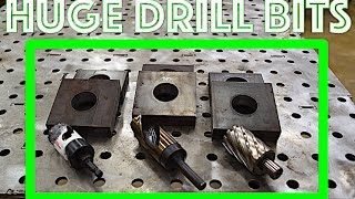 Drill big holes in 1