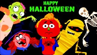 Halloween Songs for Children | Adventures of Len and Mini  by Teehee Town