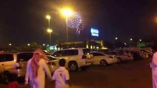 RIYADH SAUDI ARABIA EID MUBARAK FIREWORKS DISPALY