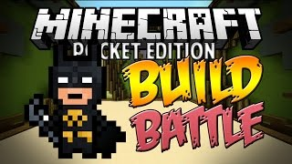 BUILD BATTLE SERVER! - New MCPE Minigame - Minecraft PE (Pocket Edition)