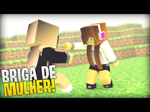 Minecraft BRIGA DE MULHER BUILD BATTLE 1