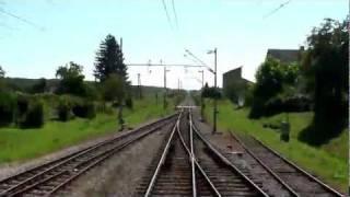 Super fast (speedup) train cab ride, Croatia