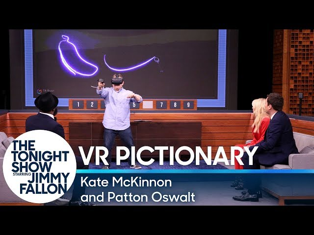 Virtual Reality Pictionary with Kate McKinnon and Patton Oswalt