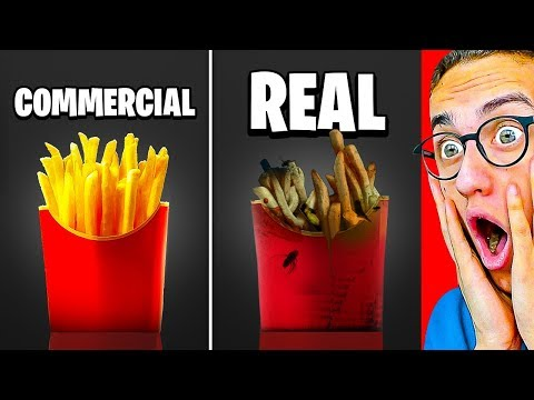 Reacting To SHOCKING COMMERCIALS VS. REAL LIFE