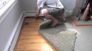 Ripping up the living room carpet - DIY Dad #6