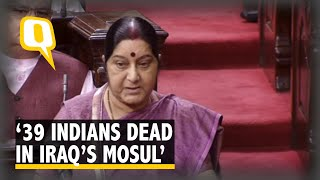 39 Indians Abducted In Iraq Confirmed Dead: EAM Sushma Swaraj
