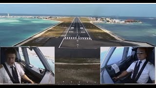 Airbus A330 - Approach And Landing In Malé, Maldives (ENG Sub)