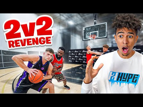 CASH WENT OFF They Got EXPOSED BAD 2v2 Basketball Against Nick Briz & Carlos Reaction