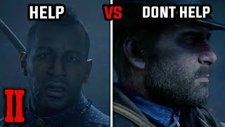 Help vs Don't Help Rains Fall (All Answers to Charles) - Red Dead Redemption 2