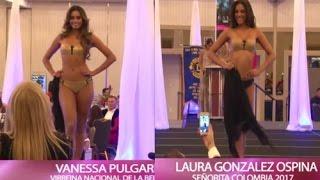 Vanessa Pulgarin y Laura Gonzalez - Desfile en Traje de baño Gala de la Belleza Miami 2017