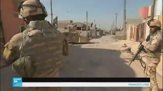 جثث الجهاديين في شوارع حي الانتصار على مشارف الموصل