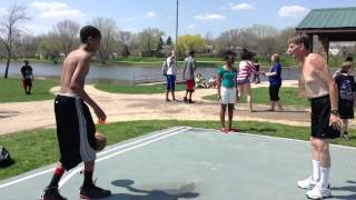 Teen Looses To Old Man In Basketball