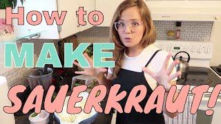 How to make Sauerkraut - Cheap Healthy Fermented Food that
