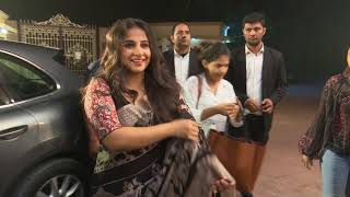 Vidya Balan at T Seies Noida welcomed by Chetna Bhatnagar