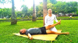 Back walking massage in Chiang Mai