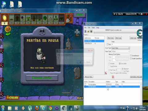 como hacer hack de dinero y sol en plantas vs zombies con cheat engine 6.1