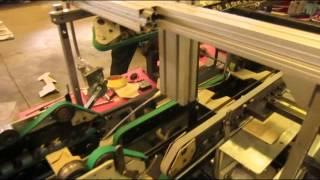 Bobst Media 45 folder gluer running 485 mm wide lock bottom