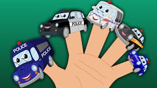 Happy and Sweety |Police Vehicles | Finger Family | Car Rhymes